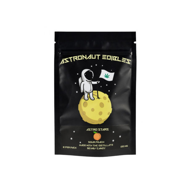 Astro Edibles Sour Peach cannabis gummies