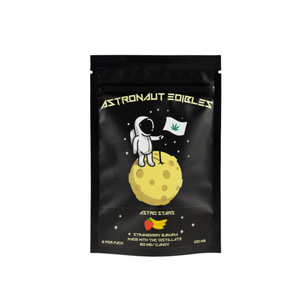 Astro Edibles Strawberry Banana flavoured Weed Gummie stars