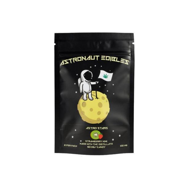 Astro Edibles Strawberry Kiwi flavoured weed gummies