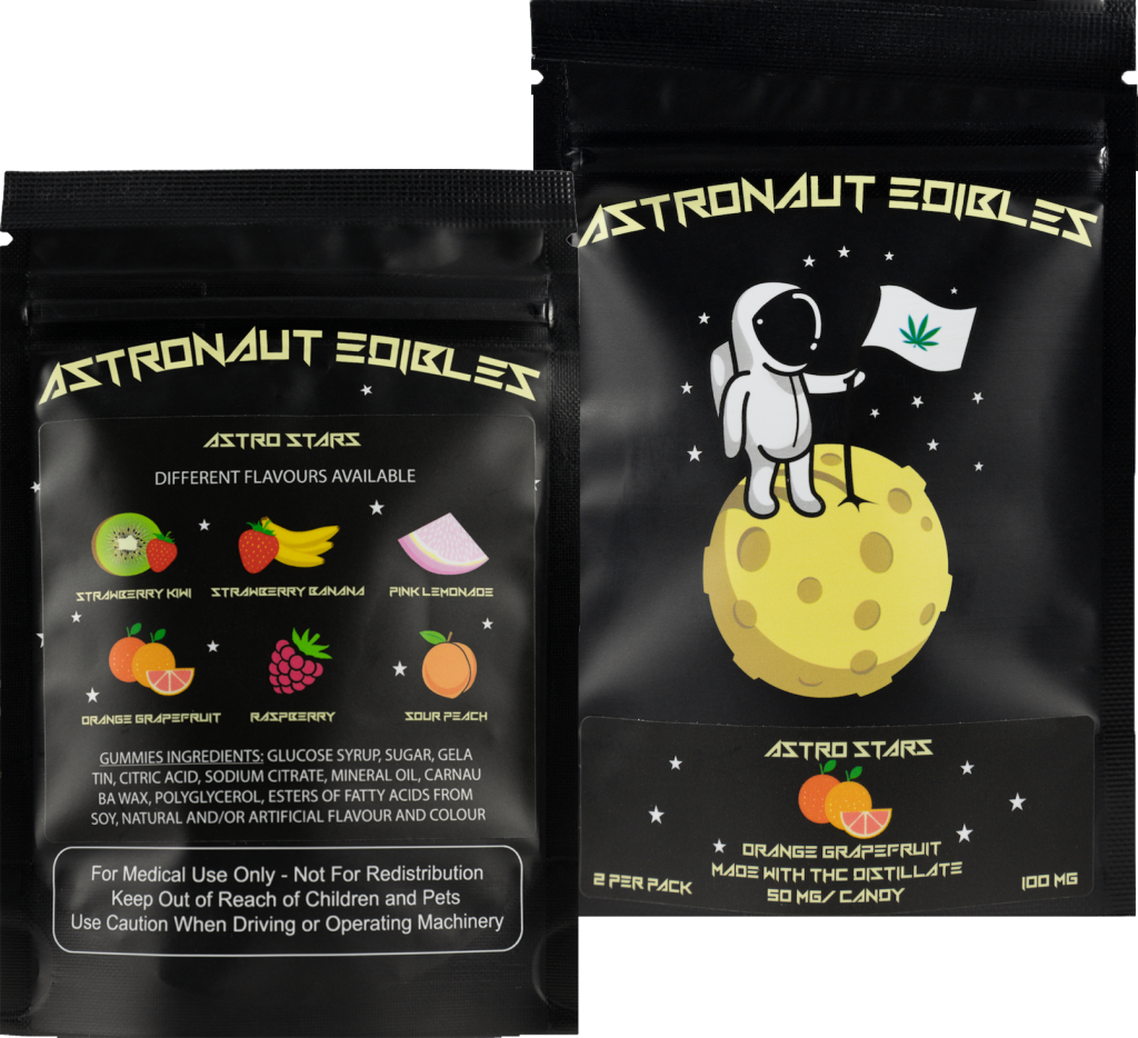 Astro Edibles Fruit Flavoured Weed Gummies, Weed Candies and Oral Sprays